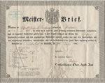 Master craftsman's diploma 1852