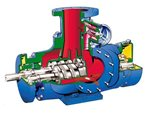 Twin screw pump sectional view